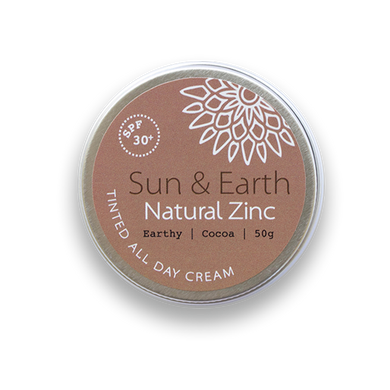 Sun & Earth Natural Zinc Tinted All Day Cream - Earthy / Cocoa (50g)