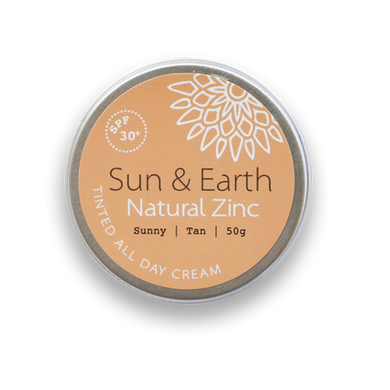 Sun & Earth Natural Zinc Tinted All Day Cream - Sunny / Tan (50g)