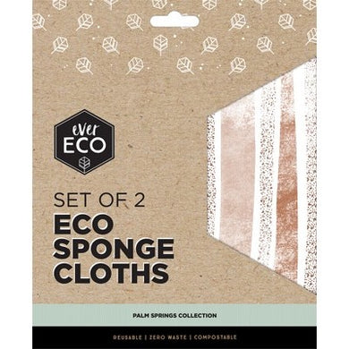 Ever Eco Compostable Sponge Cloths - Palm Springs (2 Pack)