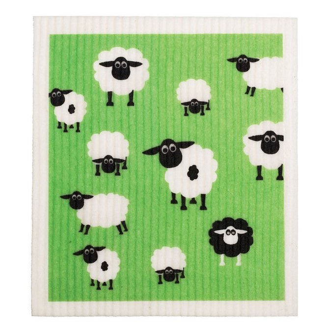 RetroKitchen 100% Compostable Dishcloth - Sheep