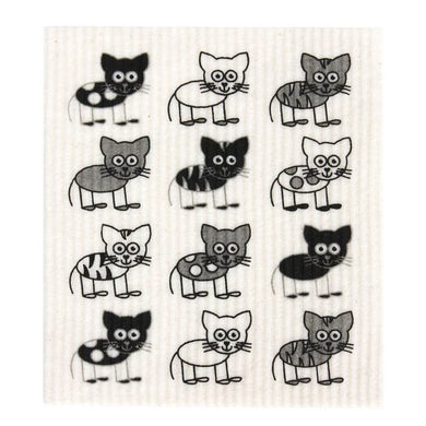 RetroKitchen 100% Compostable Dishcloth - Cat