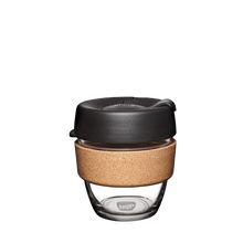Load image into Gallery viewer, KeepCup Reusable Coffee Cup - Brew Cork Small 8oz Black (Espresso)