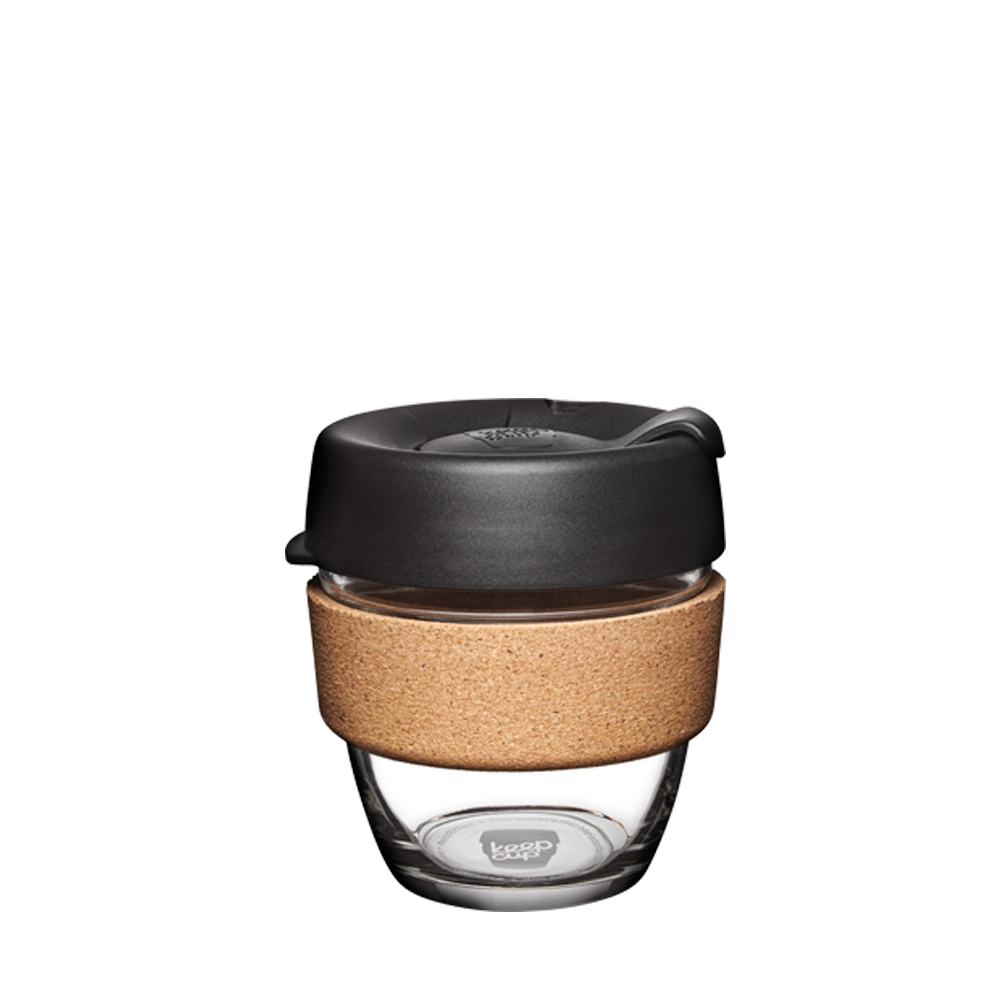 KeepCup Reusable Coffee Cup - Brew Cork Small 8oz Black (Espresso)