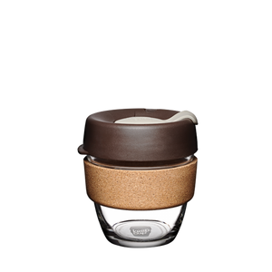 KeepCup Reusable Coffee Cup - Brew Cork Small 8oz Brown (Almond)