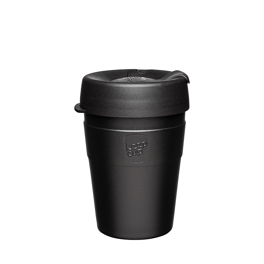 KeepCup Reusable Thermal Coffee Cup - Medium 12oz (Black)
