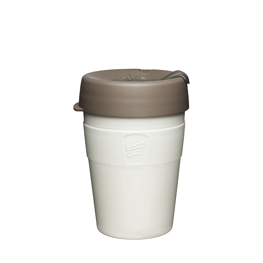 KeepCup Reusable Thermal Coffee Cup - Medium 12oz White (Latte)
