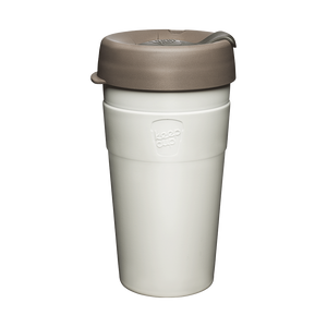 KeepCup Reusable Thermal Coffee Cup - Large 16oz White (Latte)