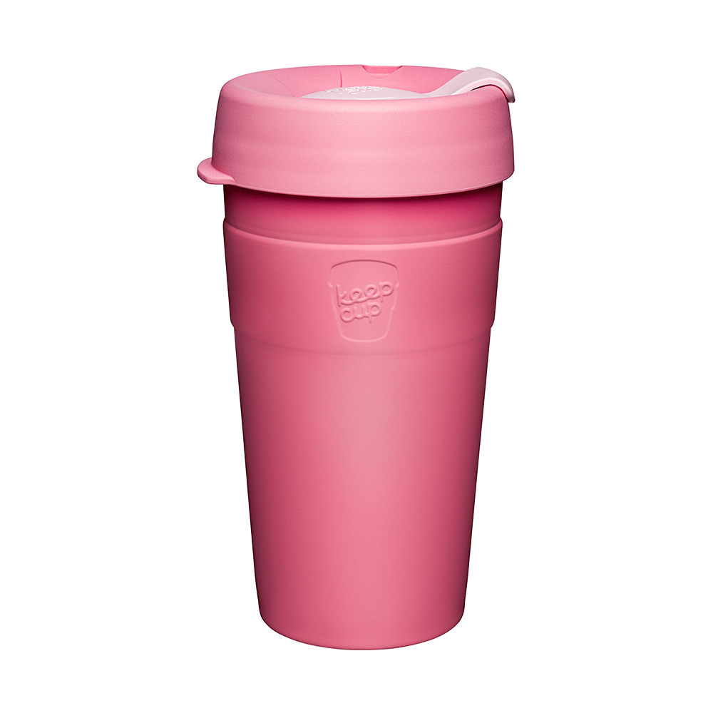 KeepCup Reusable Thermal Coffee Cup - Large 16oz Pink(Saskatoon)
