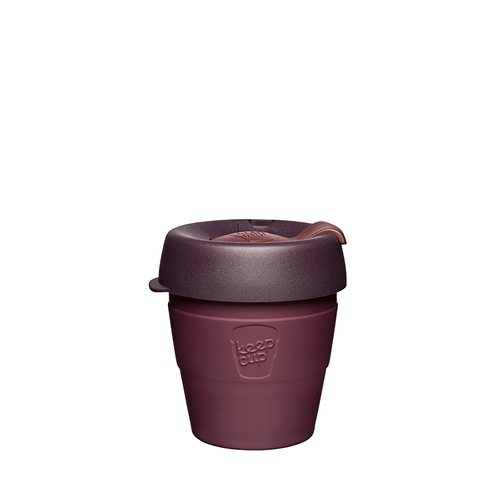 KeepCup Reusable Thermal Coffee Cup - Extra Small 6oz Maroon (Alder)