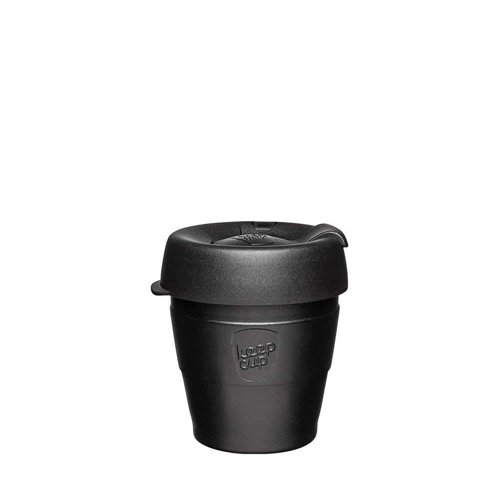KeepCup Reusable Thermal Coffee Cup - Extra Small 6oz (Black)