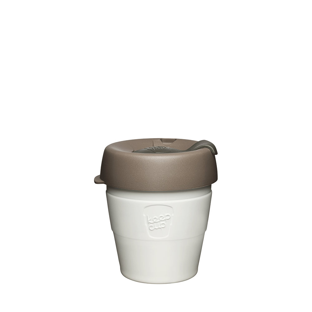 KeepCup Reusable Thermal Coffee Cup - Extra Small 6oz White (Latte)