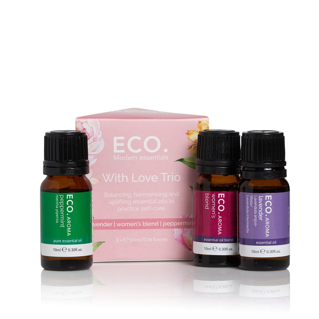 Eco Aroma Essential Oil Trio - With Love (3 Pack)