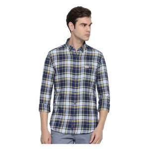 Combo of 3 Slim Fit Check Cotton Fabric Shirts for Men