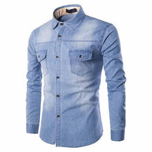 Load image into Gallery viewer, Combo of 3 New blue color Branded Fashionable Slim Fit Men's shirts
