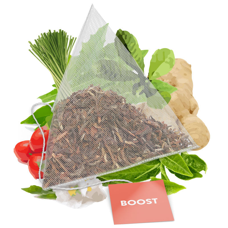 Skinny Tea Boost Tea Bag With Ingredients