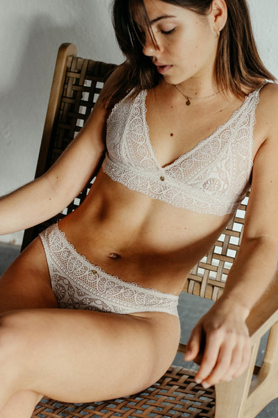 Coco Malou ethical lingerie recycelte Spitze BH