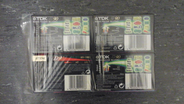 Pack of 4 TDK cassettes  NEW