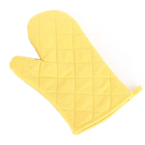 Hot Sale High-temperature Thick Hot Insulation Microwave Oven Gloves Kitchen Supplies 1PC Cotton Professional Solid Oven Mitts
