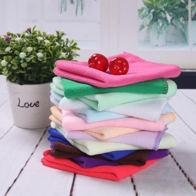 10Pcs/lot Square Luxury Soft Fiber Cotton Infant Face Hand Cloth Towel Baby Cleaning Baby Wash Towels Spa Facial Bath Towel