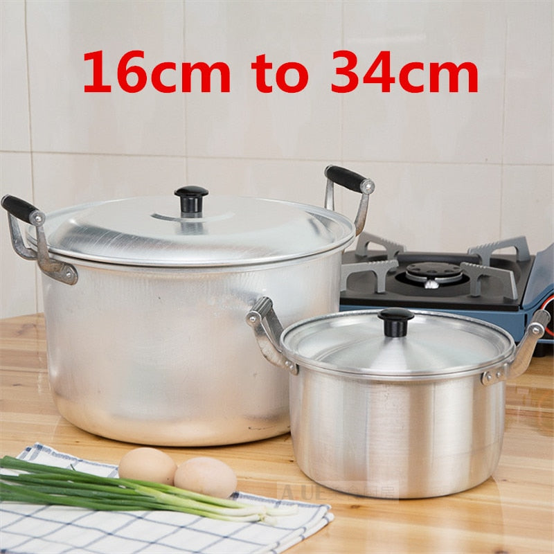 Aluminum alloy pot Stainless Steel Soup pot Nonmagnetic Cooking Multi-purpose Cookware Non-stick Pan general use kitchen pot