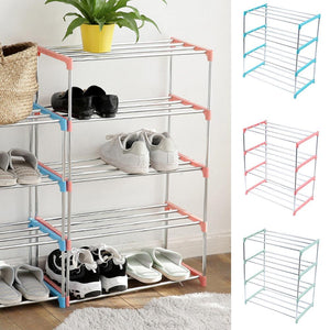4 Layer Shoe Rack Organizer Stainless Steel Shoe Storage Display Shoes Organizers Shoes Rack Shelf Shoe Storage Home Storage