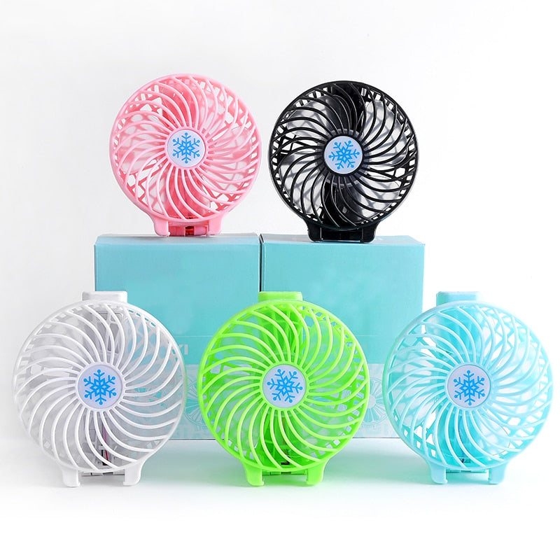 Hand-held USB fans rechargeable portable mini fans strong wind student dormitory office small fans free shipping FAN-5