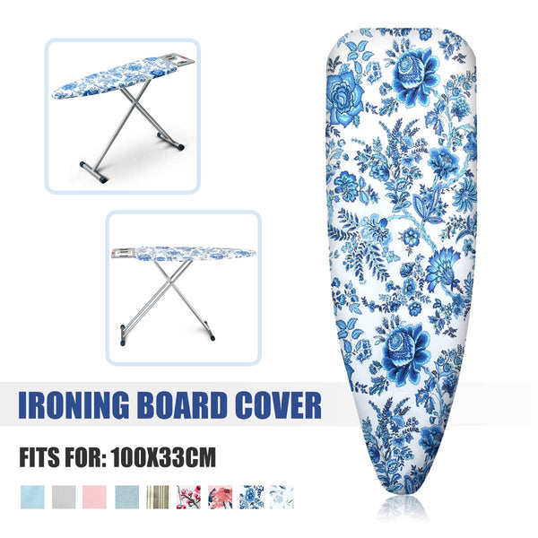 Portable Cotton Printed Ironing Board Cover Folding Elasticated Household Ironing Board Cover Mat Heat Non-Slip Ironing Pad