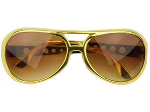 Hot Sell Gold Frame Classic Elvis Glasses