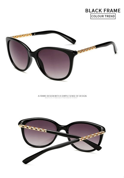 LongKeeper Luxury Vintage Cat Eye Sunglasses