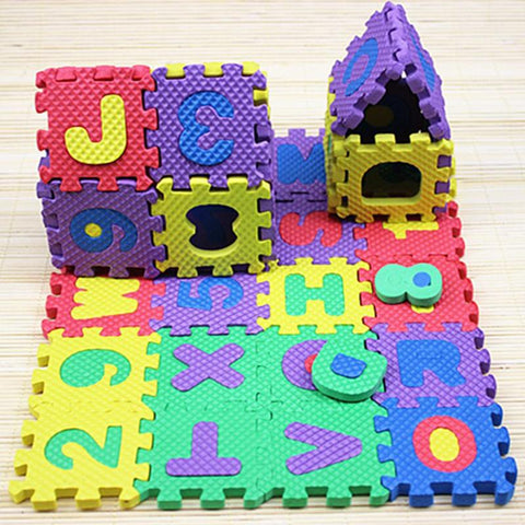 36pcs Baby Puzzle Toys Foam Alphabet Numbers Play Mat Floor Kids Rug Carpet For Children Letter Animal Paradise Safety Kids Toys