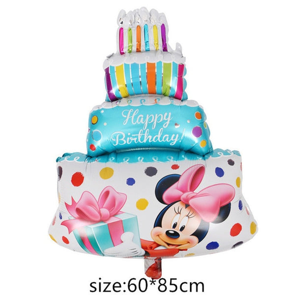 Giant Mickey Minnie Mouse Balloon Cartoon Foil Balloon Kids Birthday Party Decorations Classic Toys Gift cartoon hat
