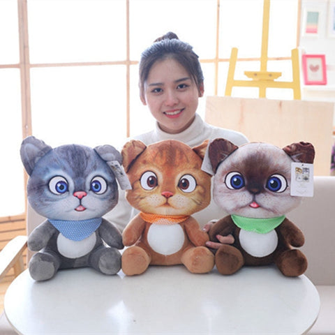 1pc 20cm Mini Cute Plush Cat Toys Stuffed Plush Animals Cartoon Cat Doll Toys Kids Toys Girls Gifts