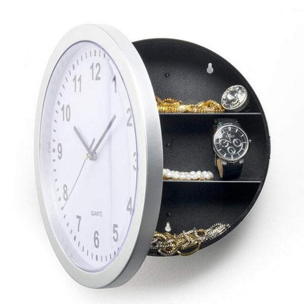 2 In1 Creative Hidden Secret Storage Wall Clock Home Decroation Office Security Safe Money Stash Jewellery Stuff Container Clock