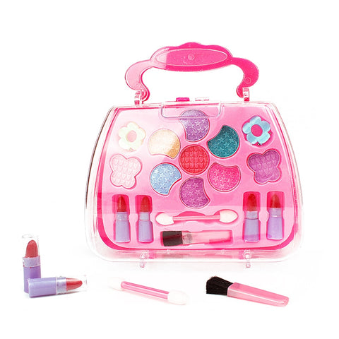 Pretend Play Girls Cosmetics Kit Environmental Toys Makeup Set Preschool Kid Beauty Safety Toy For Kids Makeup