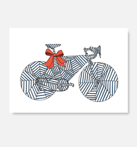 Laurie King Co Greeting Card Wrapped Blue and red