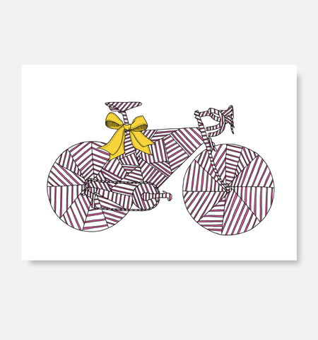Laurie King Co Greeting Card Wrapped Pink and yellow
