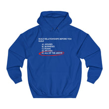 Load image into Gallery viewer, Unisex Build Relationships Hoodie