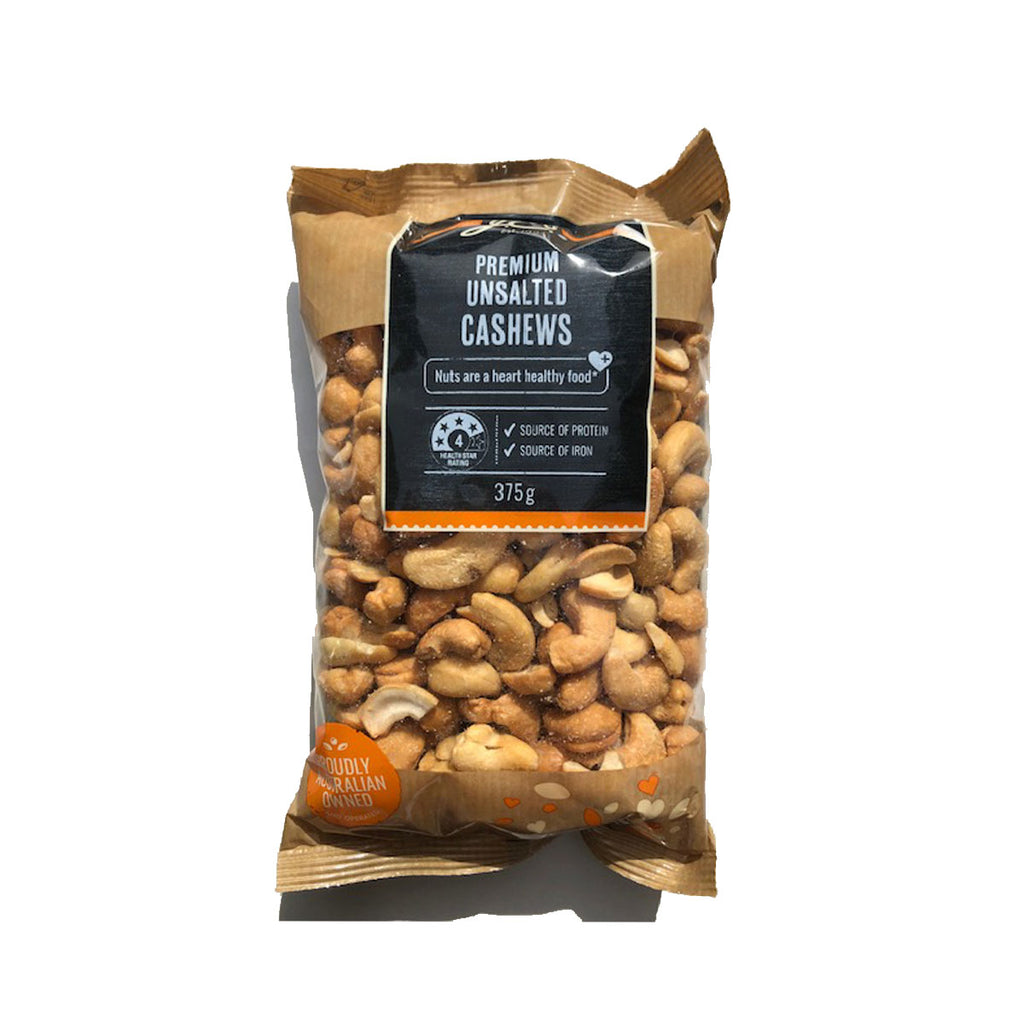 JC's Cashews Unsalted 375g