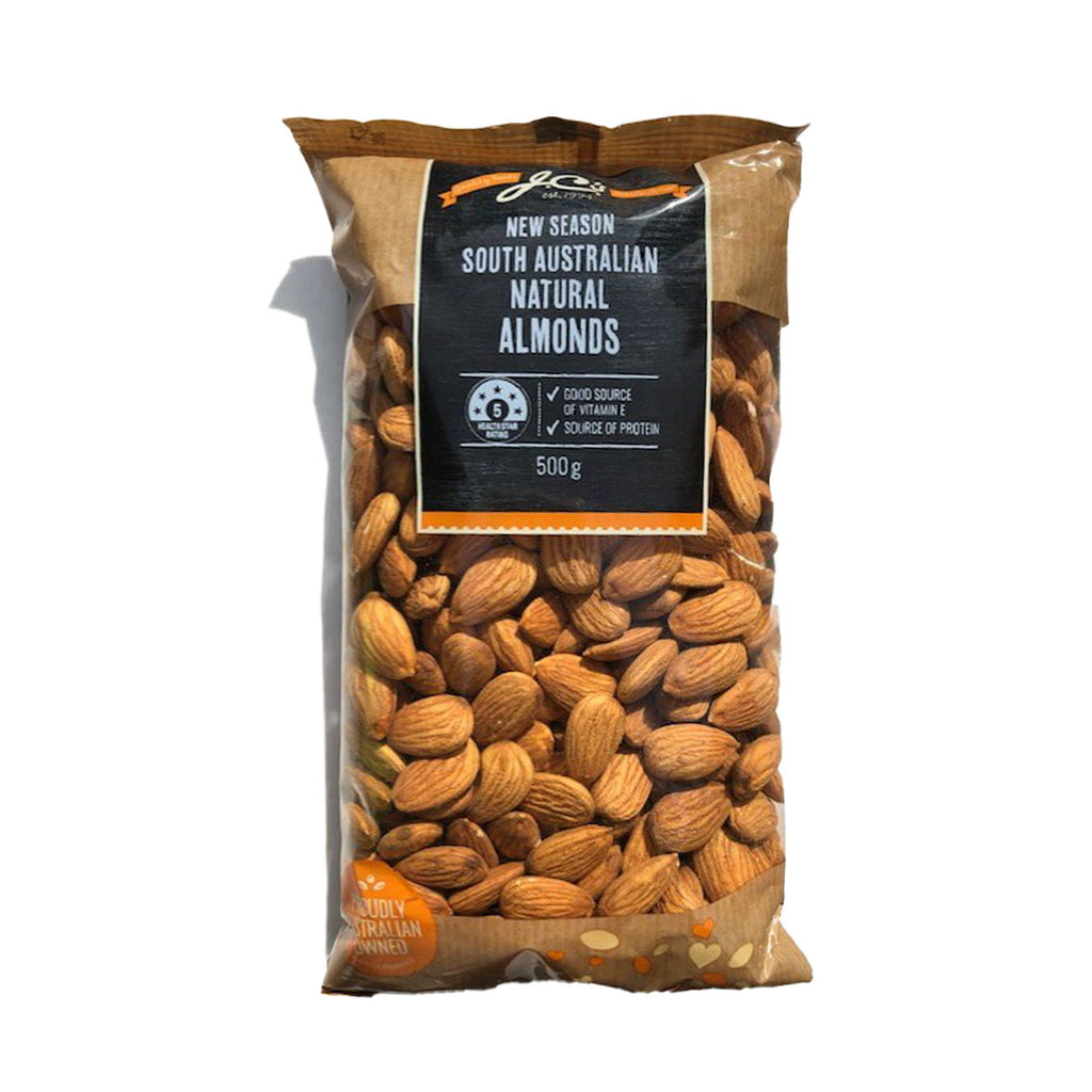 JC's Natural Almonds 500g