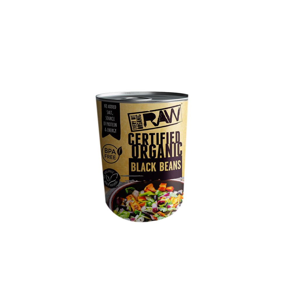 RAW Certified Organic Black Beans