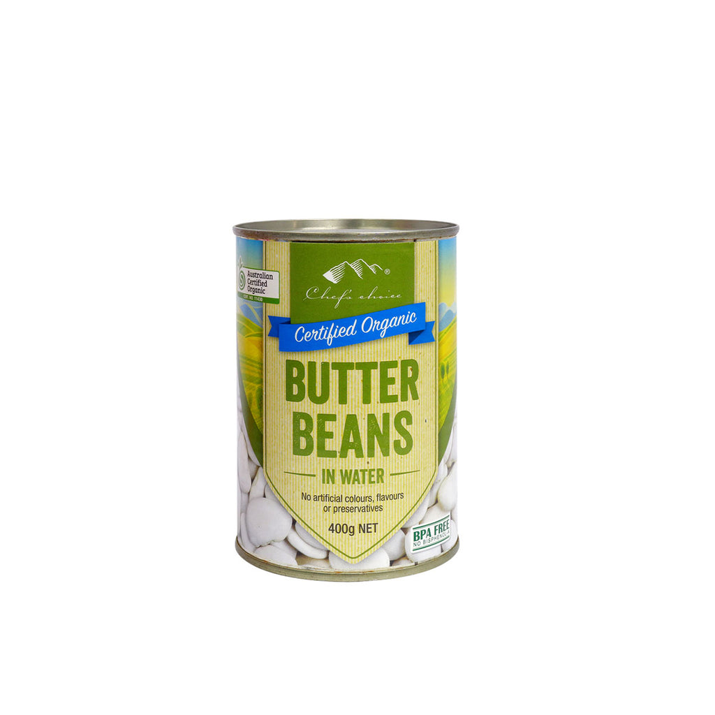 Chefs Choice Certified Organic Butter Beans.