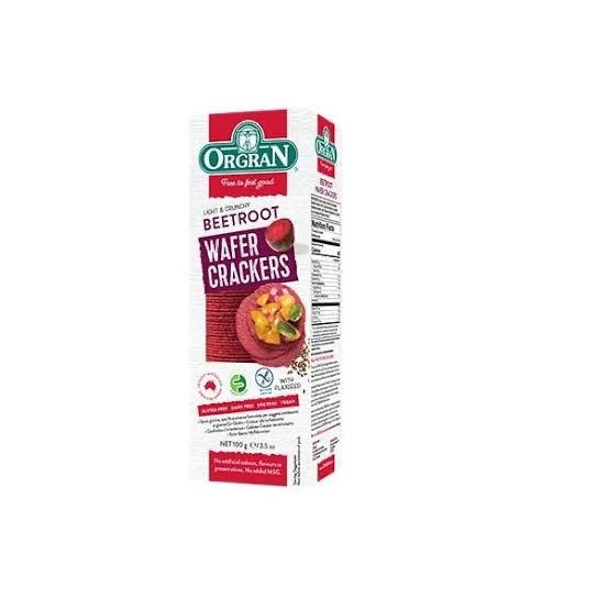 Organ- Beetroot Wafer Crackers (100g)