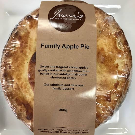 Ivan's Family Apple Pie 800g