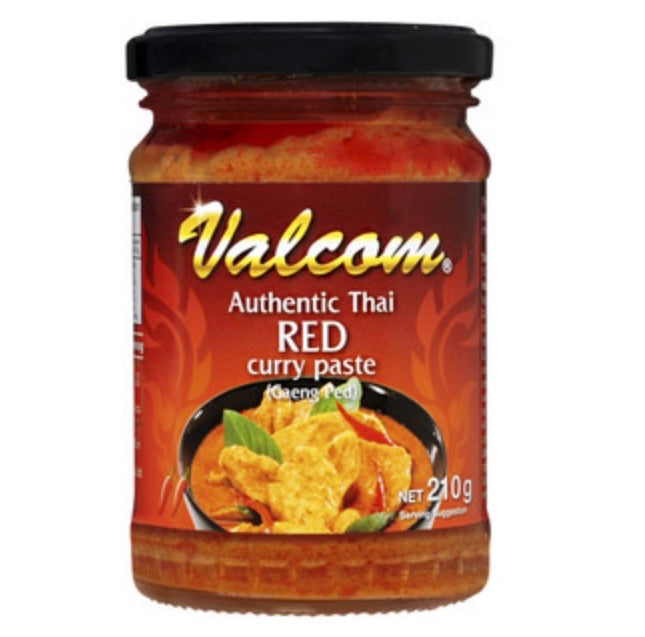 Valcom Red Curry Paste 210g