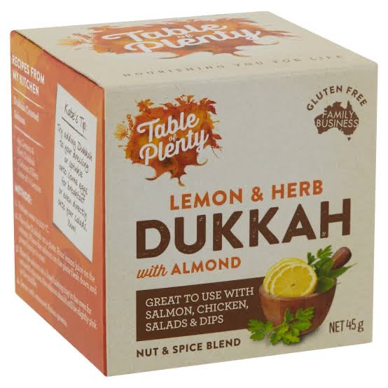 Table Plenty Lemon & Herb Dukkah 45g