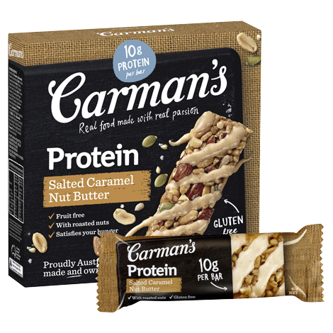Carman's Protein Salted Caramel Nut Butter Bar (210g)