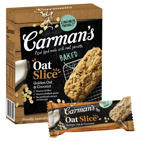 Carman's Oat Slice Golden Oat & Coconut (210g)