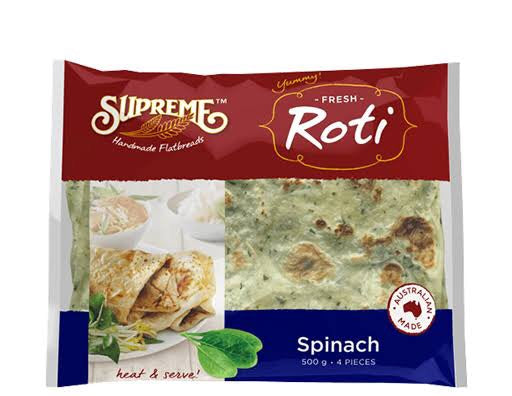 Supreme Roti Bread Spinach (500g)