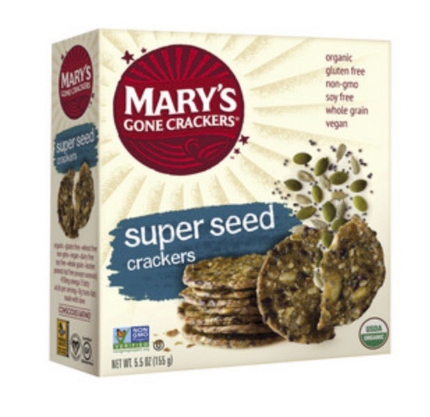 Mary's Super Seed Crackers 156g