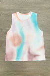 Alexis Tie Dye Lounge Top in Mauve + Teal